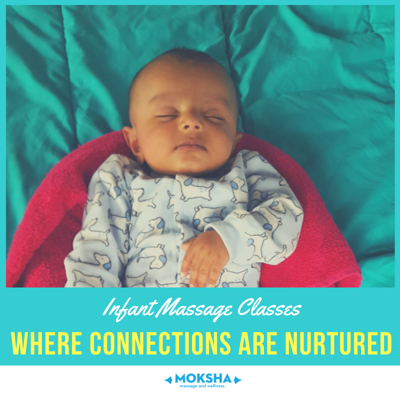 Infant Massage Classes: Where Connections are Nurtured. Image of baby sleeping